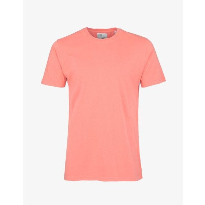 Classic Organic T-Shirt in Bright Coral
