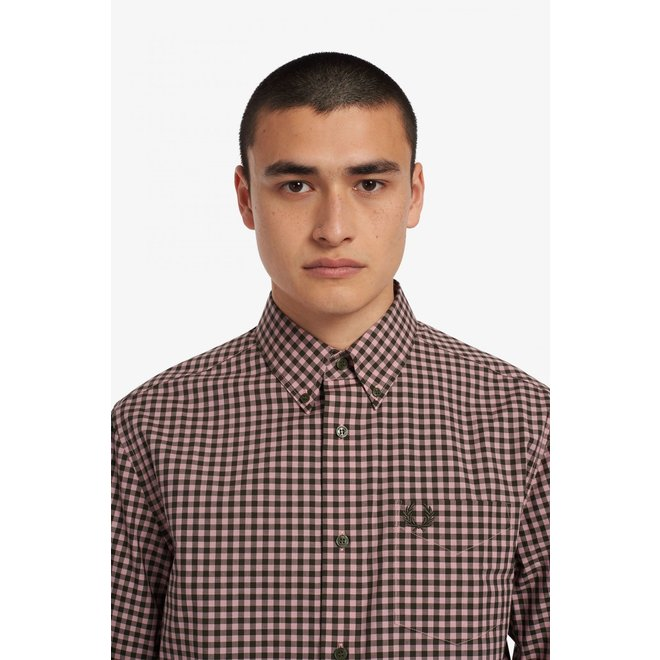 Gingham Shirt in Aubergine