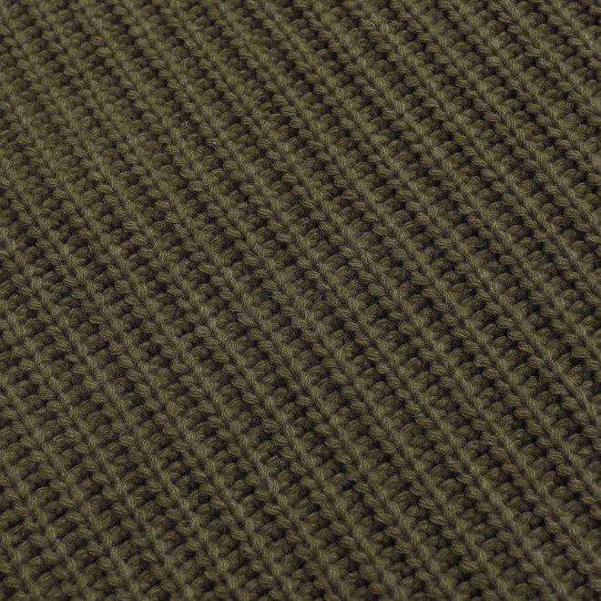 Hamish Ribbed Knit in Dark Olive