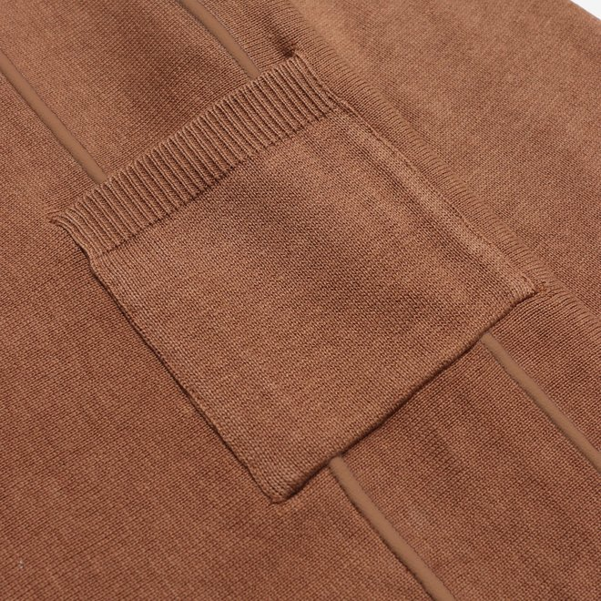 Marlow L/S Polo in Rawhide Brown