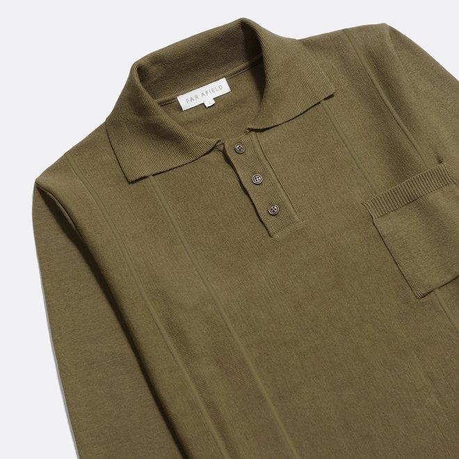 Marlow L/S Polo in Dark Olive