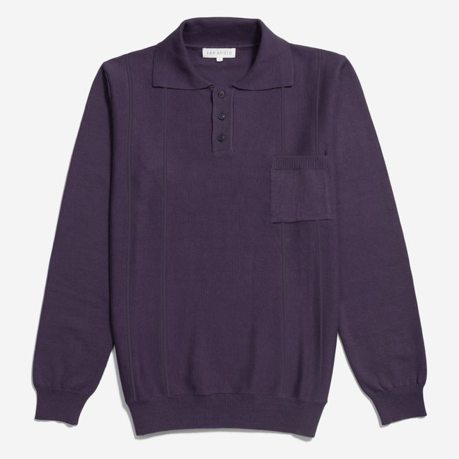 Marlow L/S Polo in Nightshade