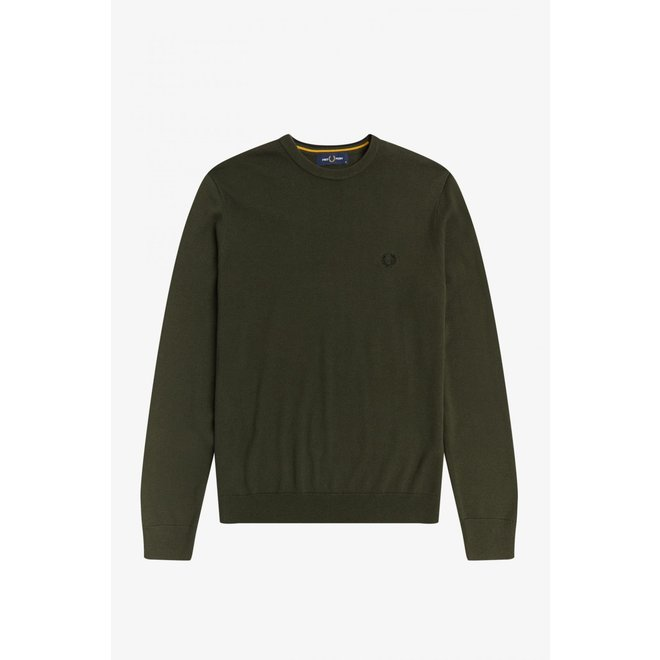 Classic Crew Neck Jumper in Hunting Green