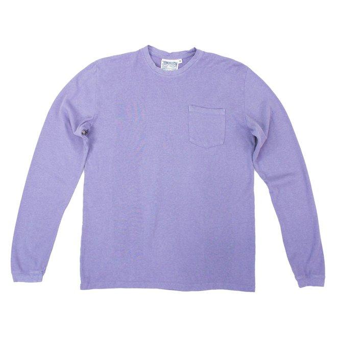 Baja Long Sleeve Pocket Tee in Lavender Violet