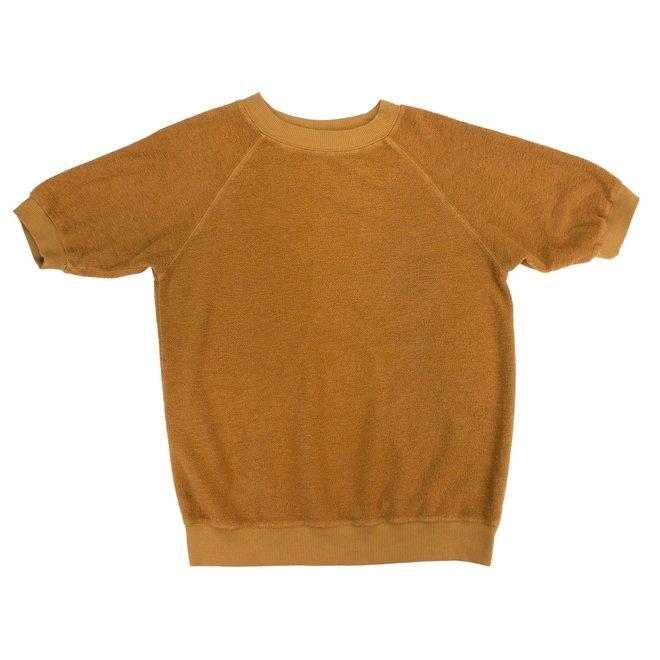 Raglan Fleece Sherpa Sweatshirt in Copper