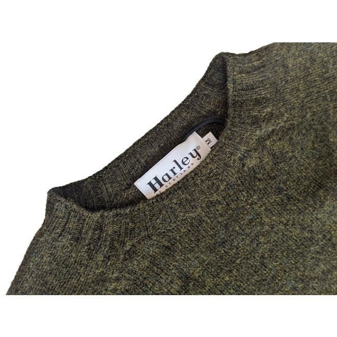 Classic Crew Neck Jumper in Pine Shadow