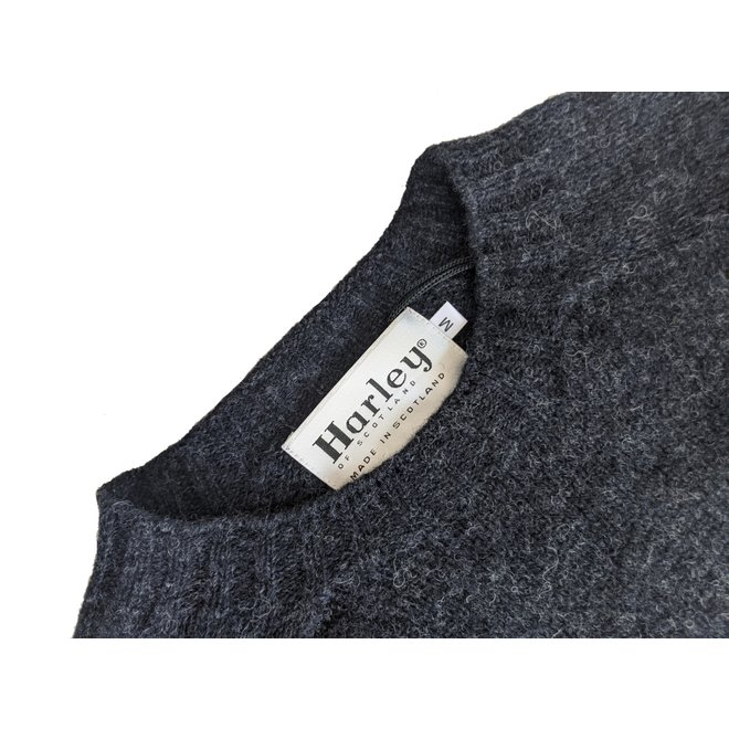 Classic Crew Neck Jumper in Charcoal