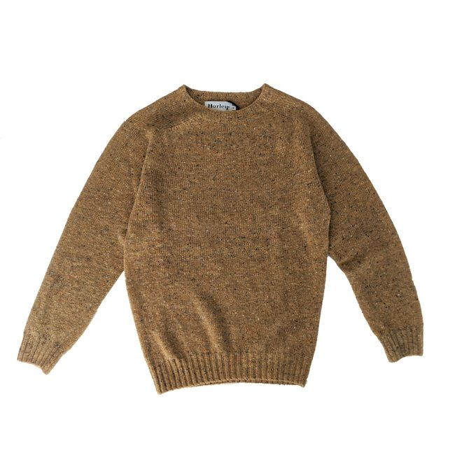 Soft Donegal Crew Neck Jumper in Hickory