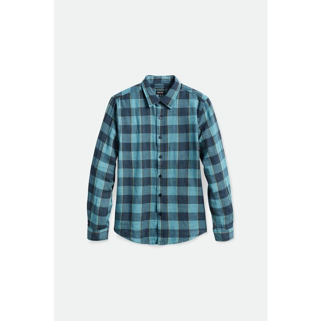 Bowery Soft Weave Shirt in Teal
