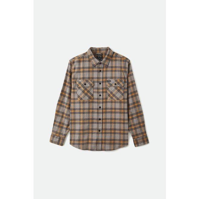 Bowery Stretch Flannel Shirt in Heather Grey