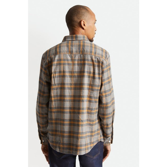 Bowery Stretch Flannel Shirt in Slate Blue