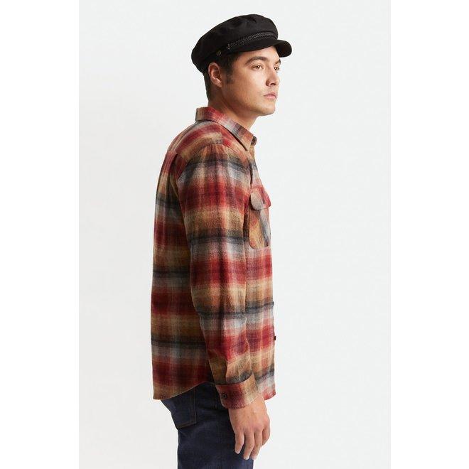 Bowery Flannel Shirt in Dark Brick