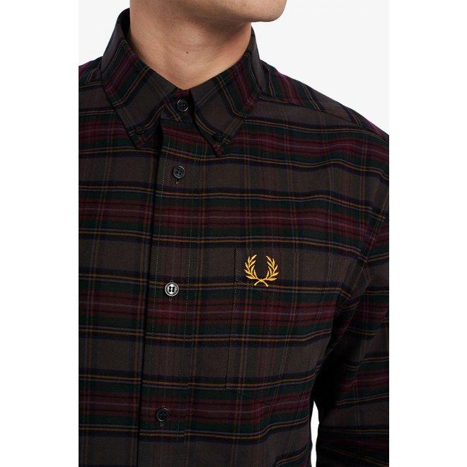 Tonal Tartan Shirt in Black