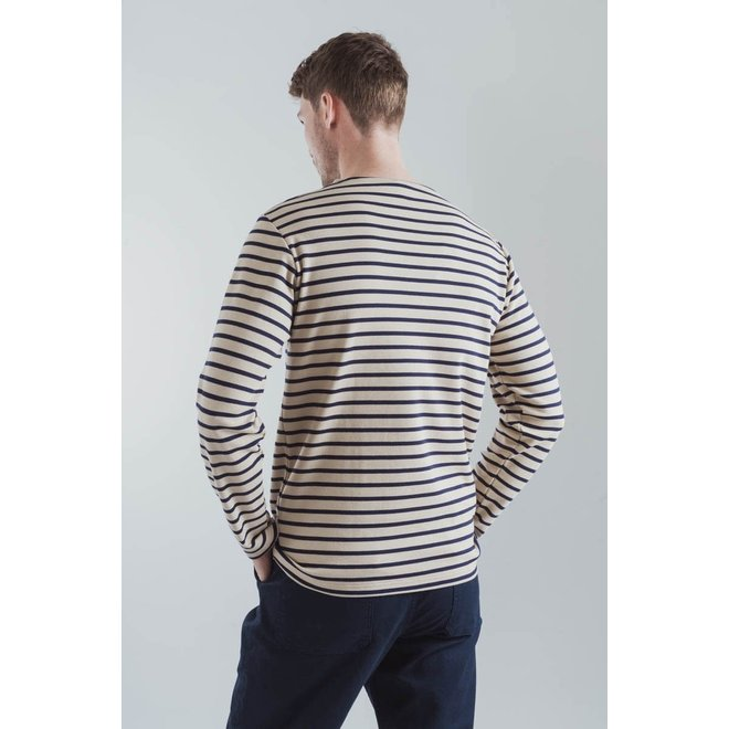 "Breton Heritage ""Houat"" Shirt in Dune/Navy"