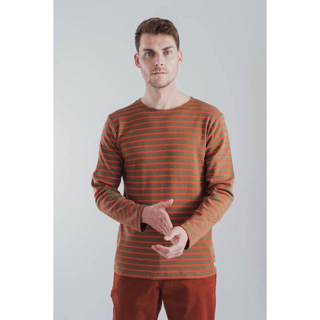 """Breton Heritage """"Houat"""" Shirt in Khaki/Poppy"""