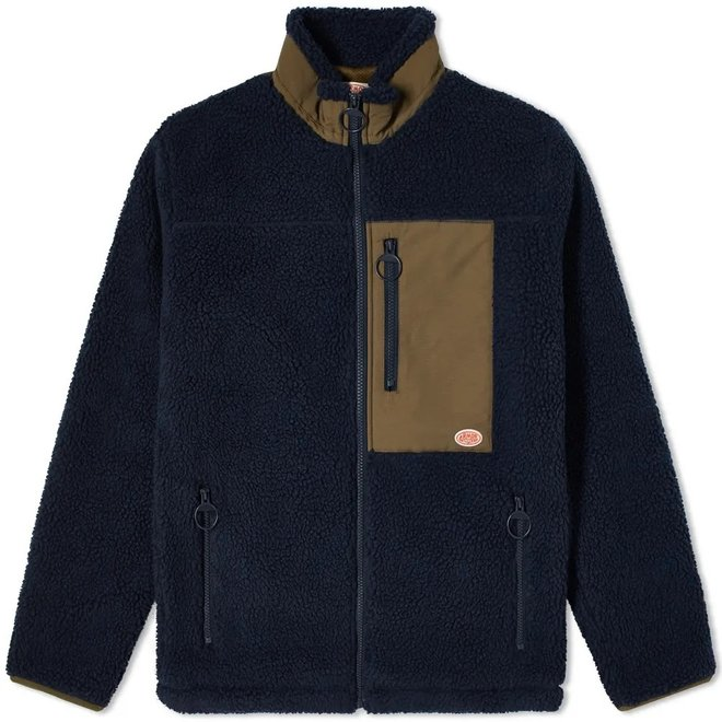 Sherpa Jacket in Navy and Khaki
