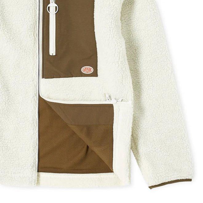 Sherpa Jacket in Natural and Khaki