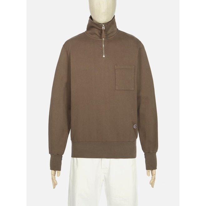 Half Zip Sweatshirt In Light Brown