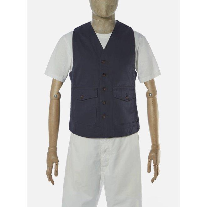 Field Waistcoat In Navy Twill
