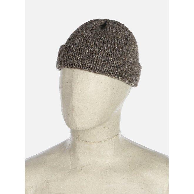 Short Watch Cap In Brown Kilcarra Wool