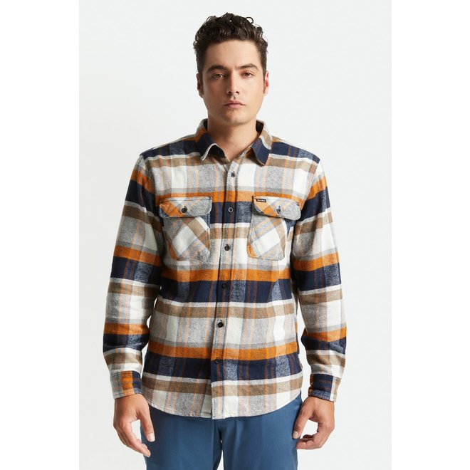 Bowery Flannel Shirt in Joe Blue/Off White