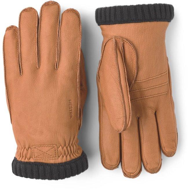 Deerskin Primaloft Ribbed Gloves in Cork