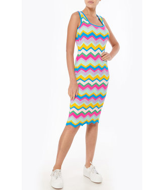 Milly Zig Zag Knit Dress
