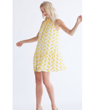 Ali & Jay Ali Yellow/White Halter Dress