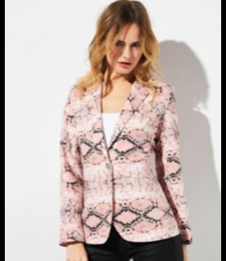 Oolala Pink Python Blazer