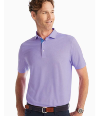 Johnnie-0 Johnnie robben small check polo
