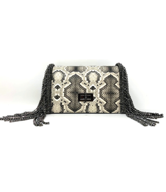 High Crystal Fringe Handbag