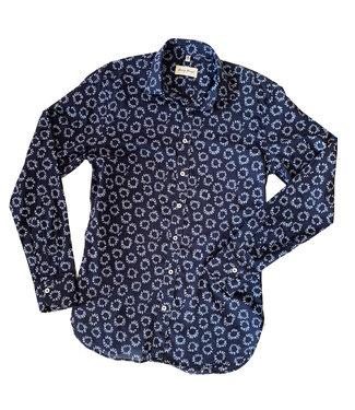 Haupt Navy Print Shirt