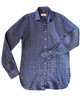 Haupt Denim Blue Floral Shirt