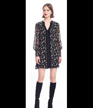 nanette Lepore Floral-Lace Mini Dress