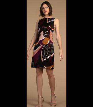 trina turk Potter Valley rickrack neck print dress size 6