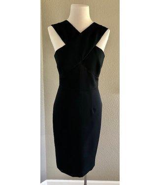 Milly Criss cross gabardine halter dress
