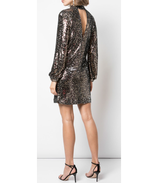 Milly Milly Leopard Sequin Shift Dress.  size 8
