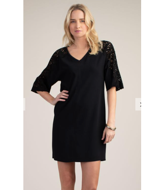 trina turk Vintner Back lace black dress size extra large
