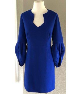 trina turk Cobalt Ballon Sleeve Dress size 12