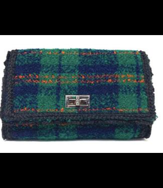Textured plaid bag