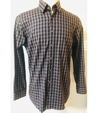Haupt Brown/grey plaid shirt