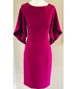 Milly Knee length dress with flutter sleeve
