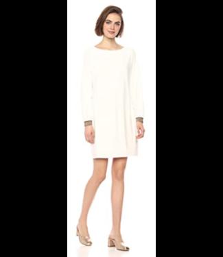 trina turk White long sleeve dress  glitter cuff -  size medium