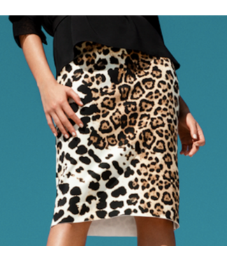 Shan Shan Leopard pencil skirt