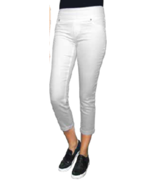 Up Cropped White Denim