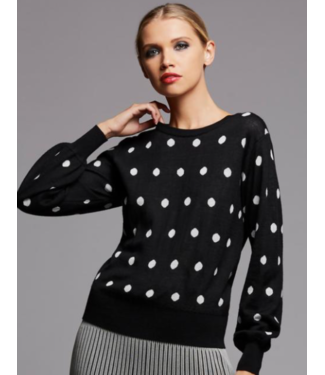 Bailey 44 Black and white polka dot sweater Size Small