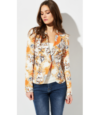 Oolala Orange printed blazer