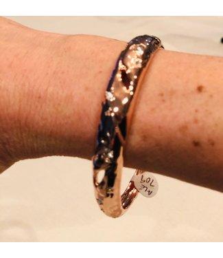 alexis bittar Rose gold textured bangle