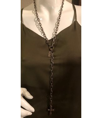zowee Lariat cross necklace