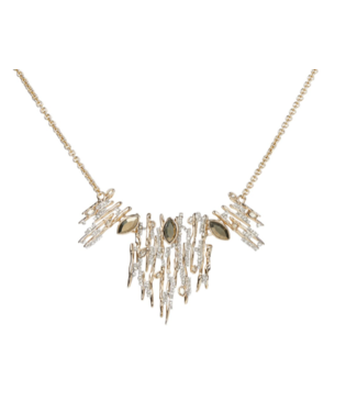 alexis bittar Spike Encrusted Bib Necklace